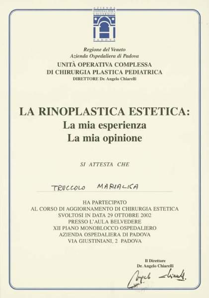 certificato rinoplastica estetica