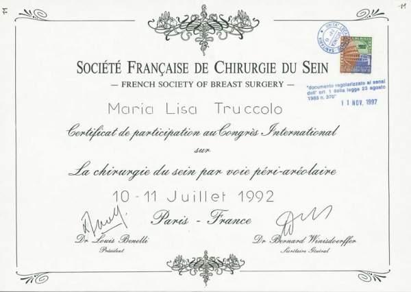 certificato chirurgia del seno