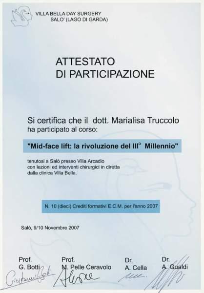 certificato chirurgia viso