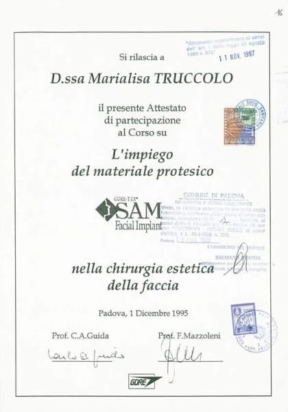 certificato chirurgia protesi viso