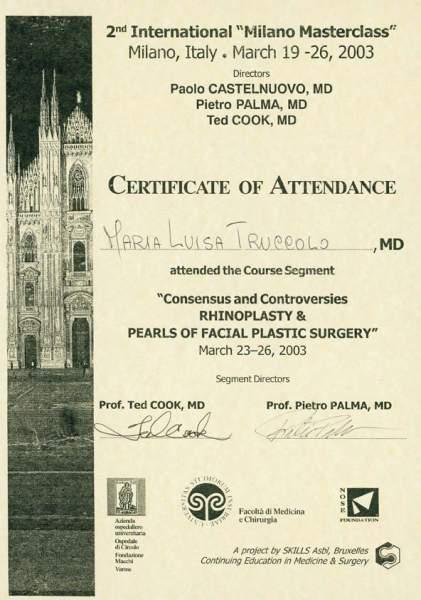 certificato chirurgia plastica naso e viso
