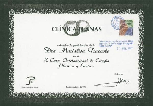 certificato chirurgia plastica ed estetica