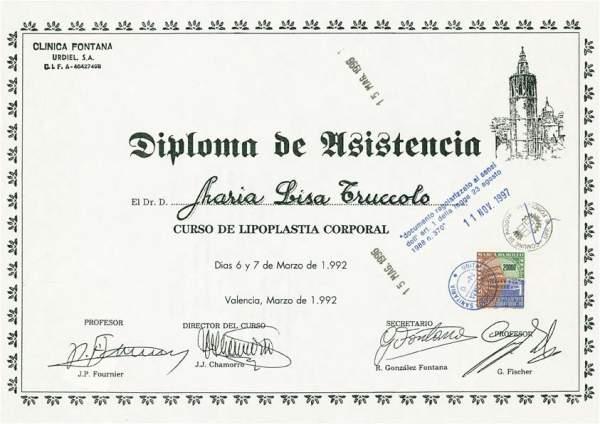 certificato lipoplastica