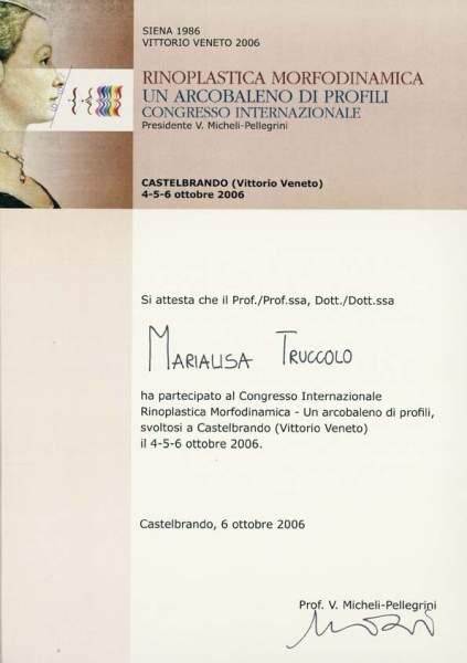 certificato rinoplastica morfodinamica