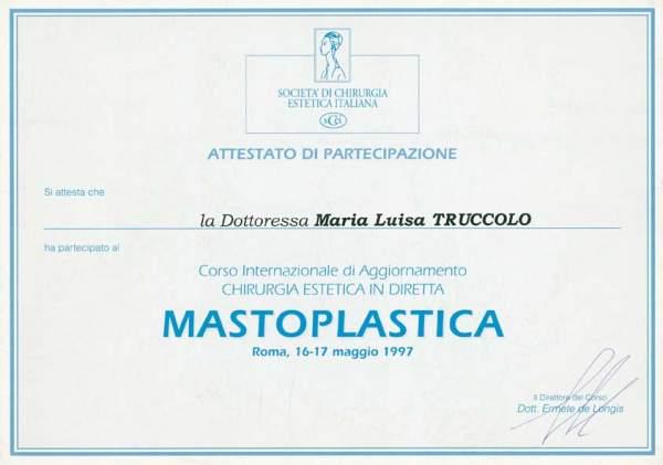 certificato mastoplastica